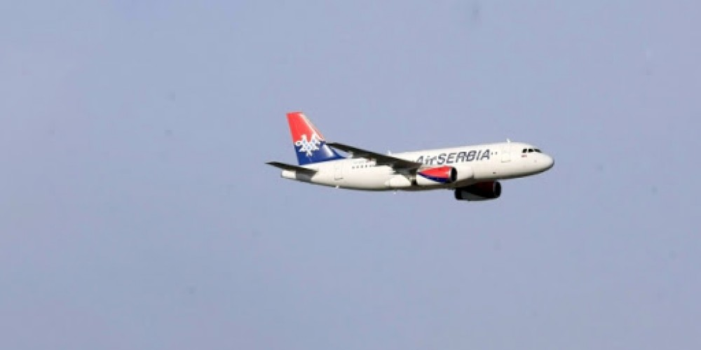Air Serbia's First Commercial Flight from Zurich After State of Emergency
